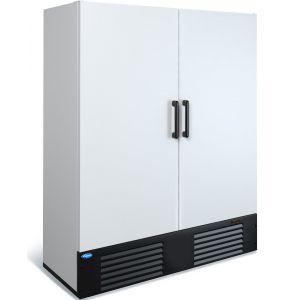 Шкаф морозильный, 1500л, 2 двери глухие, 8 полок, ножки, -12/-18С, дин.охл., белый, агрегат нижний