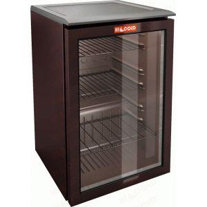 Шкаф холодильный д/напитков (минибар),  72л, 1 дверь стеко, 3 полки, ножки, +8/+14С, стат.охл., черный