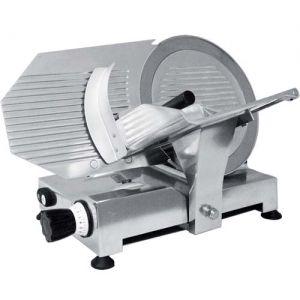 Слайсер электрический наклонный, D ножа 300мм, корпус алюминий, устройство заточное съемное, каретка фиксированная (б/у (бывший в употреблении))