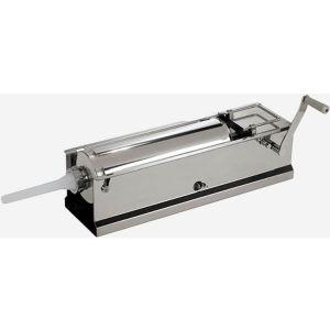 Аппарат для набивки колбас механический настольный, бункер  8кг, горизонтальный, нерж.сталь, 4 насадки D35/25/15/10мм