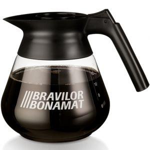 Графин для кофеварки настольной, 1.7л, стекло прозрачное, черная ручка