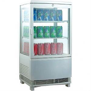 Витрина холодильная настольная, вертикальная, L0.43м, 2 полки, 0/+12С, белая, 4-х стороннее остекление, сквозная