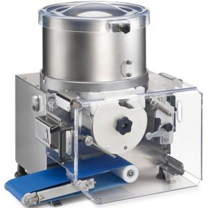 Аппарат котлетный автоматический, настольный, 2100шт./ч, бункер 23л, корпус нерж.сталь+алюминий, барабан «круг  90», конвейерная лента