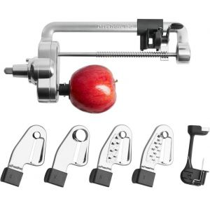 Насадка-спиралайзер, 4 ножа, для очистки и нарезки фруктов и овощей, для миксера KitchenAid