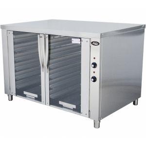 Шкаф расстойный тепловой, 12х(400х600), 2 двери стекло, нержавеющая сталь
