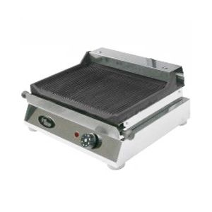 Гриль-сковорода электрическая, 1 зона, поверхность рифленая чугунная, борт, настольная