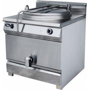 Котел пищеварочный газовый, неопрокидываемый, 150л, нагрев прямой, корпус нерж.сталь, кран сливной, электророзжиг, газ-контроль, магистральный