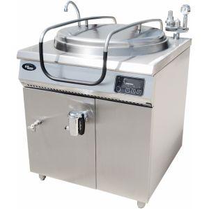 Котел пищеварочный электрический, неопрокидываемый, 100л, нагрев косвенны, корпус нерж.сталь, кран сливной