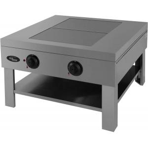 Плита-табурет электрическая, 2 конфорки 2х3.0кВт, поверхность сплошная чугунная, ножки, полка