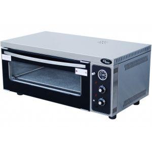 Печь для пиццы электрическая, подовая, 1 камера  665х410х160мм, 2 пиццы D310мм, электромех.управление, дверь стекло, под камень
