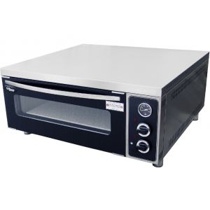 Печь для пиццы электрическая, подовая, 1 камера  660х750х140мм, 4 пиццы D310мм, электромех.управление, дверь стекло, под камень