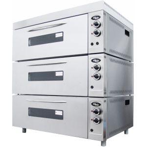 Шкаф жарочный, 3 камеры, противень 600х400мм или GN1/1, пароувлажнение, лицо нерж.сталь, корпус крашенный металл