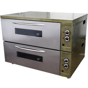 Шкаф жарочный, 2 камеры, противень 600х400мм или GN1/1, пароувлажнение, лицо нерж.сталь, корпус крашенный металл
