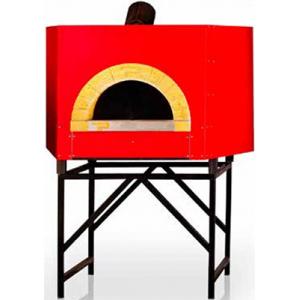 Печь дровяная, 1 камера, под 1.13м2 камень сплошной, термометр, корпус красный, дверь сталь, подставка, деревянная упаковка