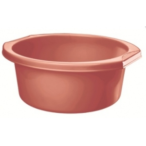 Таз 11л круглый, пластик цвет бордо