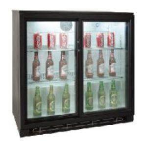 Стол холодильный д/напитков, L0.90м, 188л, 2 двери-купе стекло, 0/+10С, чёрный