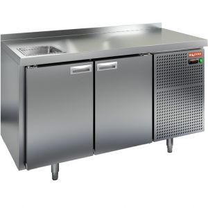 Модуль барный холодильный, 1390х700х850мм, борт, 2 двери глухие, мойка GN1/2, ножки, -2/+10С, нерж.сталь, дин.охл., агрегат справа