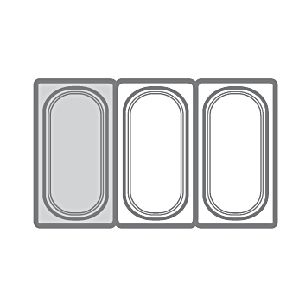 Гастроемкость GN1/3х200, поликарбонат
