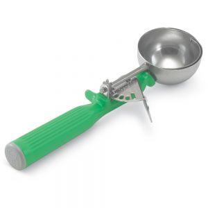 Ложка для мороженого #12 78,9мл D 6,2см h 23,3см с зеленой ручкой, нерж.сталь