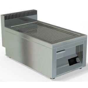Гриль-сковорода индукционная, 1 зона 5.0кВт, поверхность рифленая стальная, борт, настольная