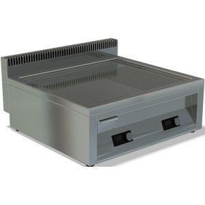 Гриль-сковорода индукционная, 2 зоны 5.0кВт, поверхность комбинированная (гладкая+рифленая) стальная, борт, настольная