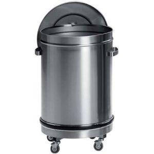 Бак для пищевых отходов, 100л, нерж.сталь 304, колёса, крышка, ручки