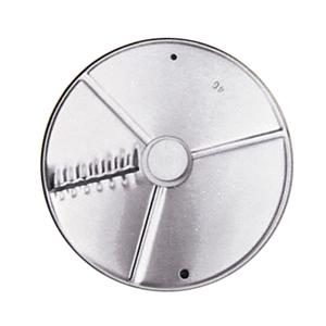 Диск-слайсер для овощерезки-куттера R211 XL, R211 XL Ultra, R301 Ultra, R402 и овощерезки CL20, CL30 Bistro, CL40, кружочки и колечки, срез волна 2мм