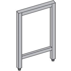 Опора промежуточная П-образная для столешницы, нерж.сталь