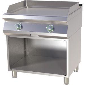 Гриль-сковорода электрическая, 2 зоны, поверхность гладкая стальная, стенд полузакрытый без дверей