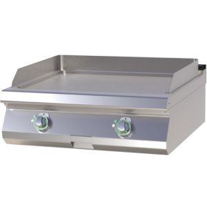 Гриль-сковорода электрическая, 2 зоны, поверхность гладкая стальная, настольная