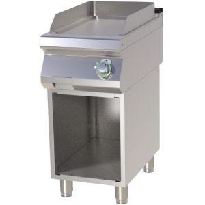 Гриль-сковорода электрическая, 1 зона, поверхность гладкая стальная, стенд полузакрытый без двери