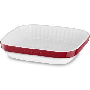 Форма д/пирога керамическая, 260х260мм, покрытие – фарфоровая эмаль, цвет –  красный