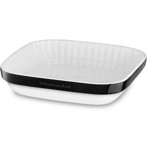 Форма д/пирога керамическая, 260х260мм, покрытие – фарфоровая эмаль, цвет –  черный