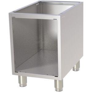 Подставка под оборудование,  400х730х600мм, без столешницы, полузакрытая без двери, нерж.сталь 304, для линии 700