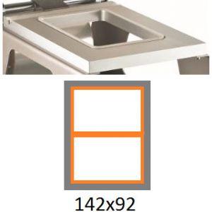 Матрица для машины для термоупаковки лотков IS-1, 142х92мм, алюминий
