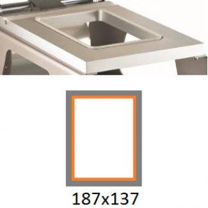 Матрица для машины для термоупаковки лотков IS-1, 187х137мм, алюминий