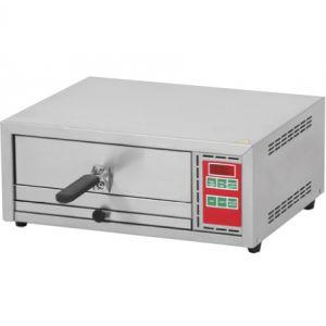 Печь для пиццы электрическая, подовая, 1 камера  350х350х90мм, 1 пицца D330мм, электронное управление, дверь глухая выдвижная