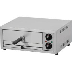 Печь для пиццы электрическая, подовая, 1 камера  350х350х90мм, 1 пицца D330мм, электромех.управление, дверь глухая выдвижная