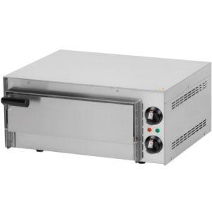 Печь для пиццы электрическая, подовая, 1 камера  410х370х90мм, 1 пицца D350мм, электромех.управление, дверь глухая, под камень
