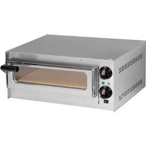Печь для пиццы электрическая, подовая, 1 камера  410х370х90мм, 1 пицца D350мм, электромех.управление, дверь стекло, под камень