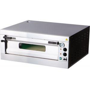 Печь для пиццы электрическая, подовая, 1 камера  700х700х150мм, 4 пиццы D330мм, электромех.управление, дверь стекло, под камень