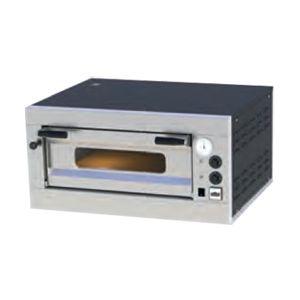 Печь для пиццы электрическая, подовая, 1 камера  550х550х150мм, 4 пиццы D250мм, электромех.управление, дверь стекло, под камень