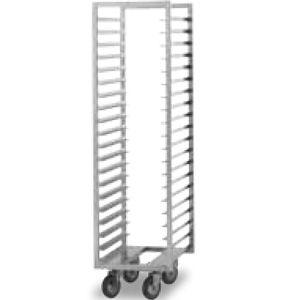 Шпилька для GN1/1, 20 уровней, одинарная, открытая, нерж.сталь, колеса, для W20KGNR