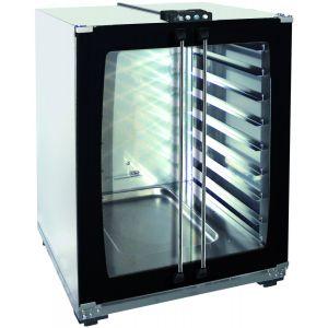 Шкаф расстоечный для печей Linemiss,  8х(460х330мм), 2 двери распашные стекло, корпус нерж.сталь, 220V, упр. электромех.