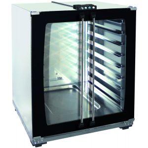 Шкаф расстоечный для печей Linemiss,  8х(600х400мм), 2 двери распашные стекло, корпус нерж.сталь, 220V, упр. электромех.