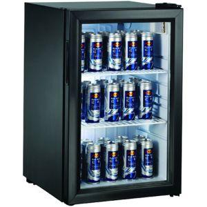 Шкаф холодильный д/напитков (минибар),  68л, 1 дверь стекло, 2 полки, ножки, 0/+10С, черный