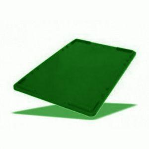 Крышка универсальная L 60см w 40см h 2,5см штабелируемая, пластик зеленый