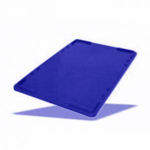 Крышка универсальная L 60см w 40см h 2,5см штабелируемая, пластик синий