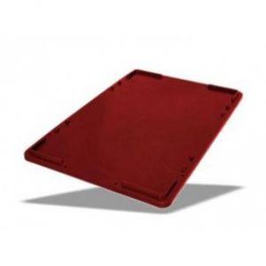 Крышка универсальная L 60см w 40см h 2,5см штабелируемая, пластик коричневый