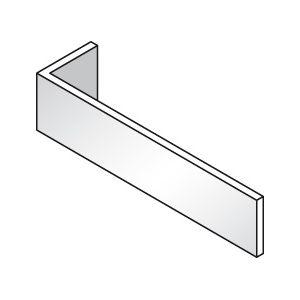 Плинтус боковой для линии раздачи, L0.70м, нерж.сталь, серия GISELF Premium